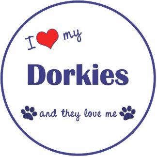 I Love My Dorkies (Multiple Dogs) Photo Cutout