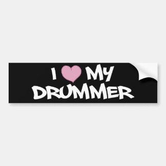 I Love My Drummer Bumper Sticker