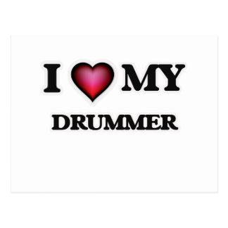 I love my Drummer Postcard
