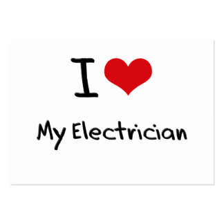 I love My Electrician Large Business Cards (Pack Of 100)