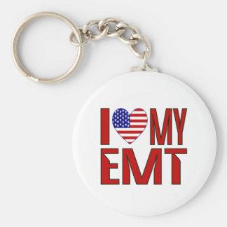 I Love My EMT Keychain