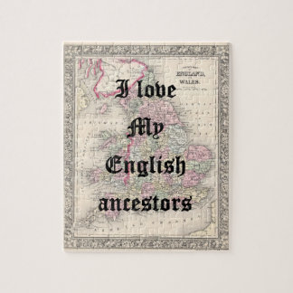 I love My English Ancestors | Custom Puzzle