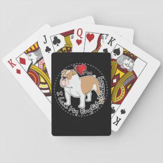 I Love My English Bulldog Dog Playing Cards