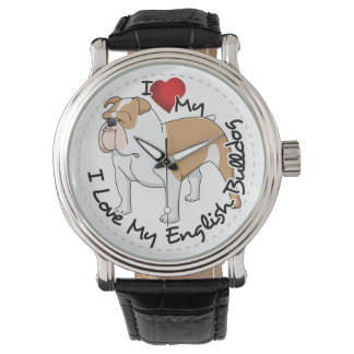I Love My English Bulldog Dog Watch