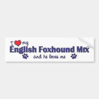 I Love My English Foxhound Mix (Male Dog) Bumper Sticker