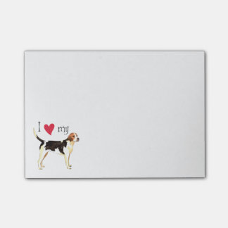 I Love my English Foxhound Post-it® Notes