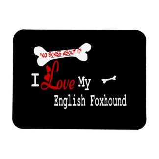 I Love My ENGLISH FOXHOUND Rectangular Photo Magnet