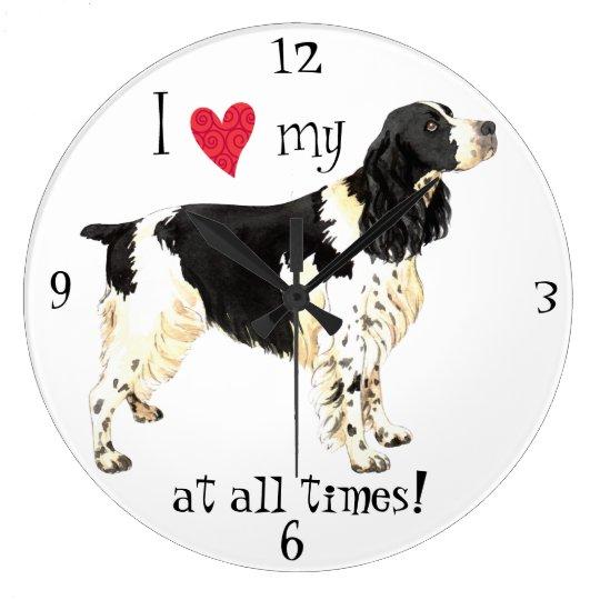 I Love my English Springer Spaniel Wall Clock