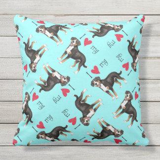I Love my Entlebucher Mountain Dog Throw Pillow