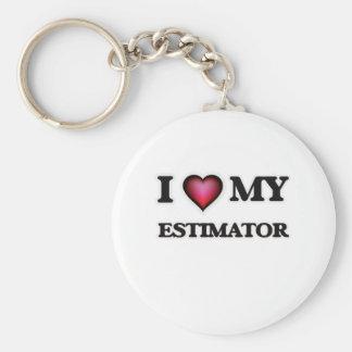 I love my Estimator Basic Round Button Keychain