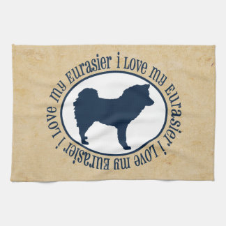 I Love My Eurasier Kitchen Towel