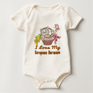 I Love My European Burmese Baby Bodysuit
