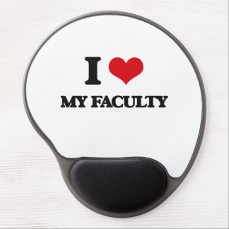 I Love My Faculty Gel Mouse Mat