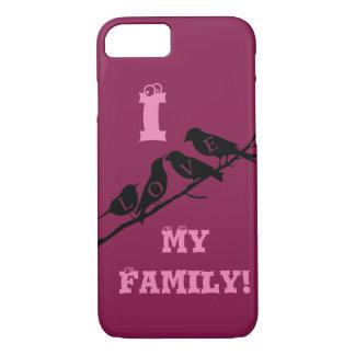 I love my family  birds Mobile cover