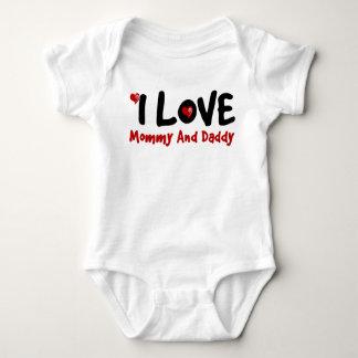 I Love My Family Couple Baby Jersey Bodysuit