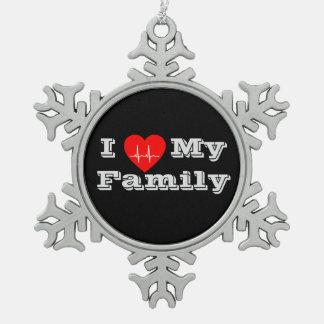 I love my Family Custom heart ornament