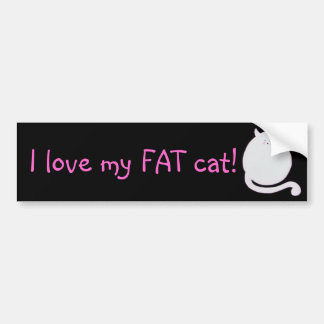 I love my fat cat! bumper sticker