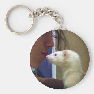 I Love My Ferret Keychain
