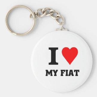 I love my fiat basic round button keychain