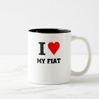 I love my fiat Two-Tone coffee mug