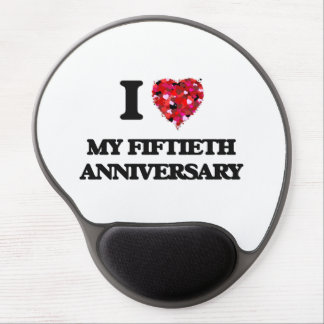 I Love My Fiftieth Anniversary Gel Mouse Pad