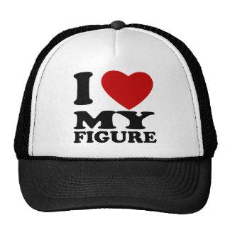 I Love My Figure Trucker Hats