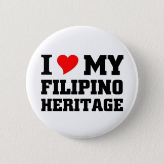 I love my Filipino Heritage 2 Inch Round Button
