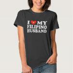 I Love My Filipino Husband Tee Shirts