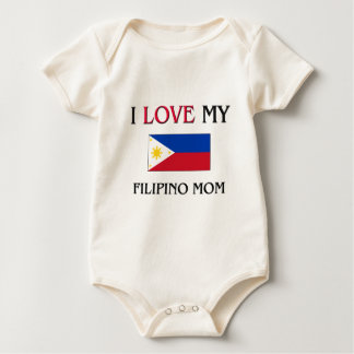 I Love My Filipino Mom Baby Bodysuit