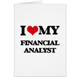 I love my Financial Analyst Card