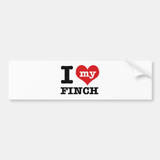 I love my Finch Bumper Sticker