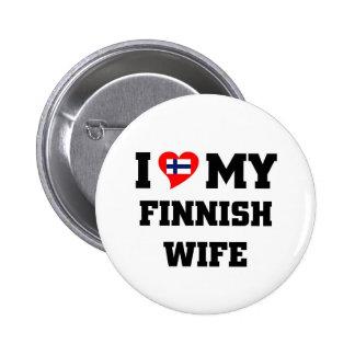 I love my finnish wife 2 inch round button