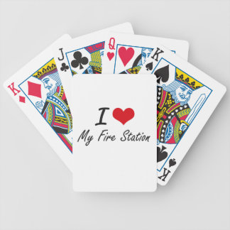 I Love My Fire Station Bicycle Playing Cards