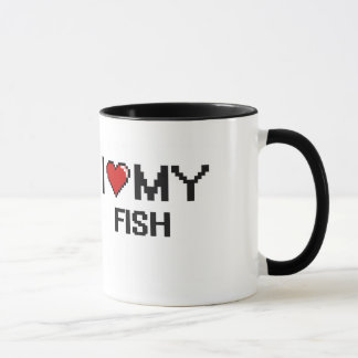 I Love My Fish Digital design Mug