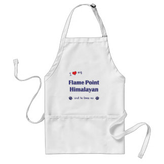 I Love My Flame Point Himalayan (Male Cat) Standard Apron