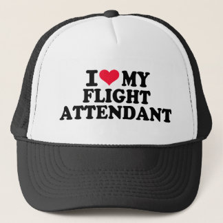 I love my Flight Attendant Trucker Hat
