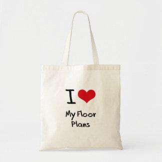 I Love My Floor Plans Canvas Bags