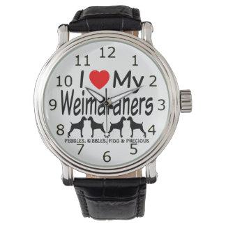 I Love My FOUR Weimaraner Dogs Watch