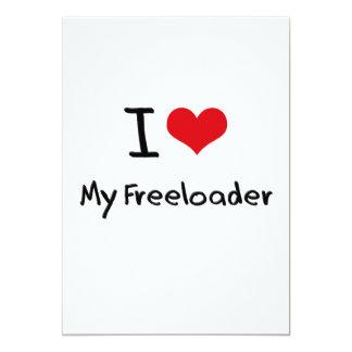 "I Love My Freeloader 5"" X 7"" Invitation Card"