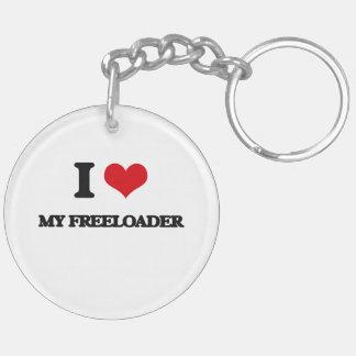I Love My Freeloader Acrylic Key Chain