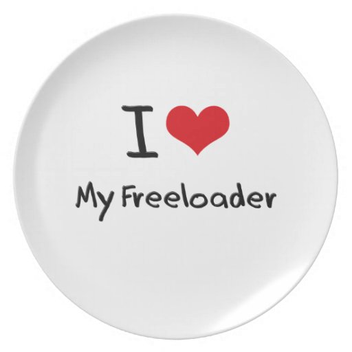 I Love My Freeloader Party Plate