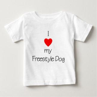 I Love My Freestyle Dog Baby T-Shirt