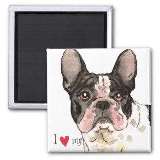 I Love my French Bulldog Magnet