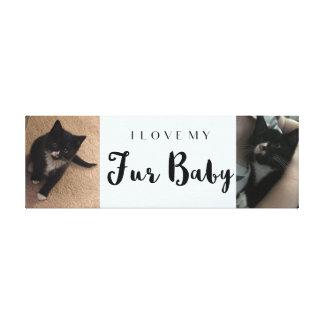 I Love My Fur Baby Custom Photo Collage Canvas Print