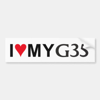 I Love My G35 Bumper Sticker