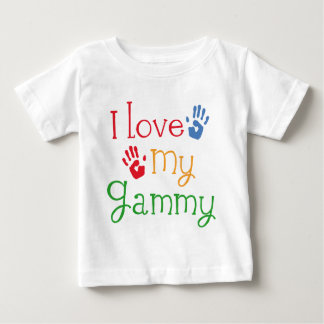 I Love My Gammy Handprints Baby T-Shirt