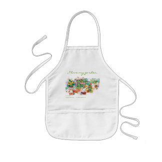 I love my garden kids apron