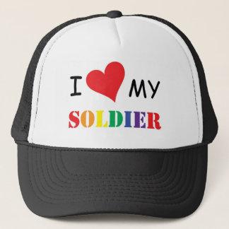 i love my GAY soldier HAT! Trucker Hat