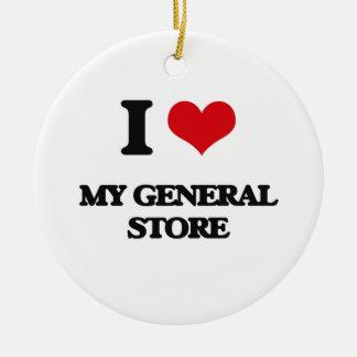 I Love My General Store Ceramic Ornament