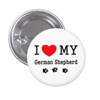 I Love My German Shepherd 1 Inch Round Button